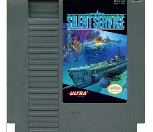 Nintendo NES Silent Service Video Game Cartridge [Played Condition]