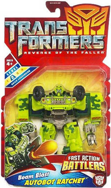 Transformers Revenge of the Fallen Fast Action Battlers Beam Blast Autobot Ratchet Action Figure