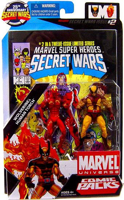 Marvel Universe 25th Anniversary Secret Wars Comic Packs Wolverine & Human Torch Action Figure 2-Pack #2