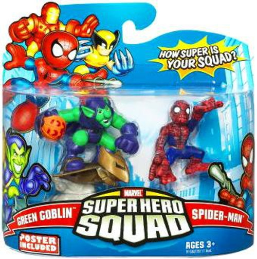 Marvel Super Hero Squad Series 14 Spider-Man & Green Goblin Action Figure 2-Pack