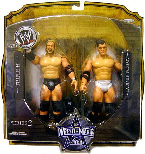 WWE Wrestling WrestleMania 25 Series 2 Triple H & Vladimir Kozlov Action Figure 2-Pack