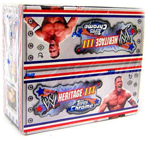 WWE Wrestling Topps Chrome WWE Heritage Series 3 Trading Card Box