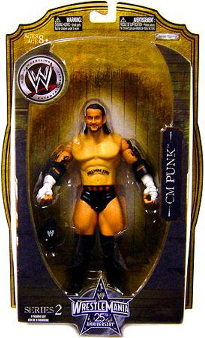 WWE Wrestling WrestleMania 25 Series 2 CM Punk Action Figure