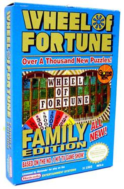 Nintendo NES Wheel of Fortune Family Edition Video Game Cartridge [Opened, Complete]