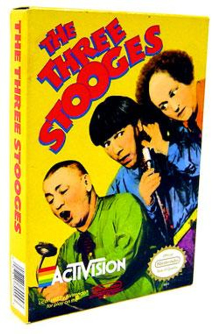 Nintendo NES The Three Stooges Video Game Cartridge [Opened]