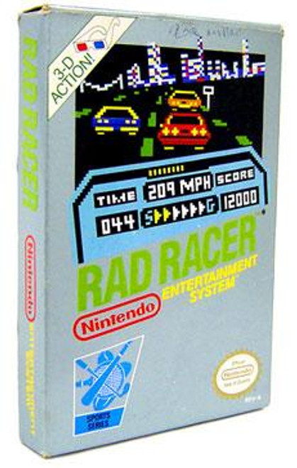 Nintendo NES Rad Racer Video Game Cartridge [Opened, Complete]