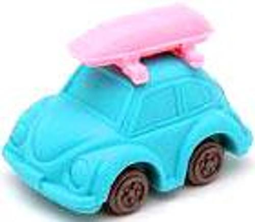 Iwako Beetle Car Eraser [Turquoise Car & Pink Camper]