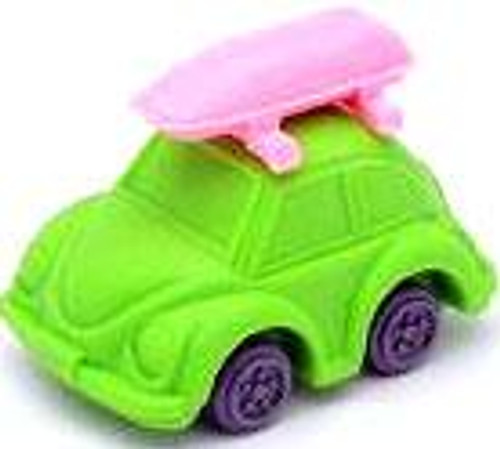 Iwako Beetle Car Eraser [Green Car & Pink Camper]