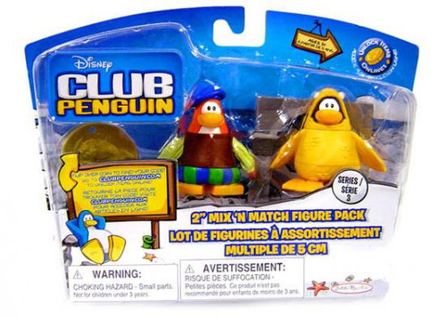 Club Penguin Mix 'N Match Series 3 Bard & 12th Fish Costume Mini Figure Set