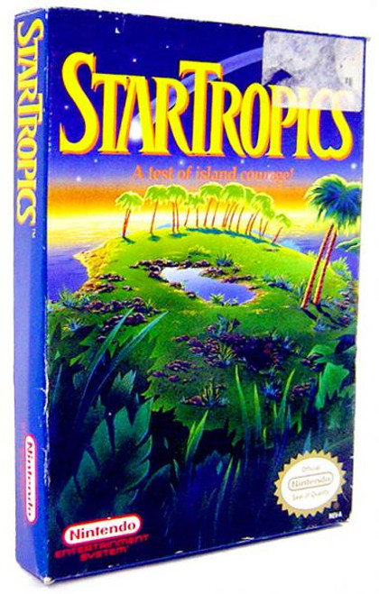 Nintendo NES StarTropics Video Game Cartridge [Opened, Incomplete]