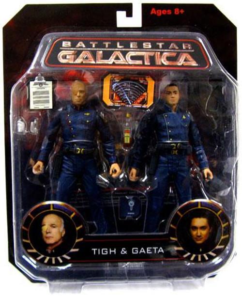 Battlestar Galactica Tigh & Gaeta Action Figure 2-Pack [Damaged Package]