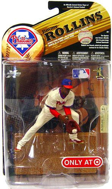 McFarlane Toys MLB Philadelphia Phillies Sports Picks Series 24 Exclusive Jimmy Rollins Exclusive Action Figure [Throwback Jersey]