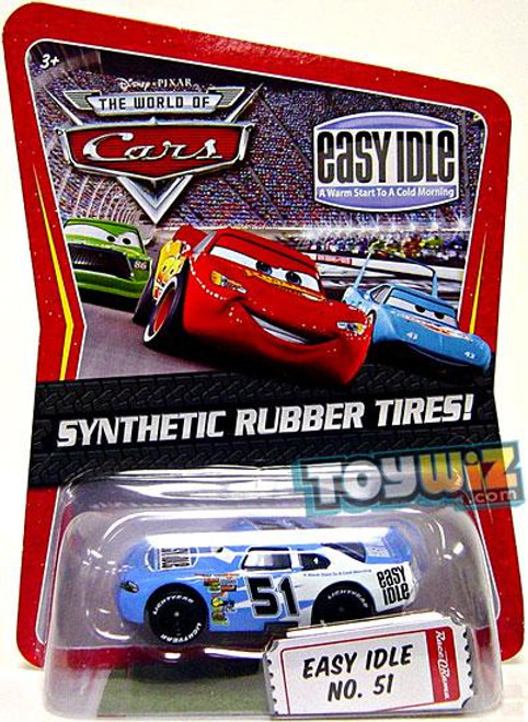 Disney Cars The World of Cars Synthetic Rubber Tires Easy Idle No. 51 Exclusive Diecast Car