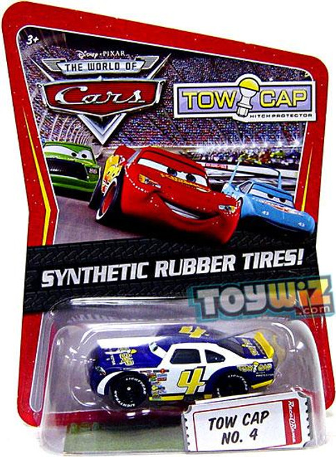 Disney Cars The World of Cars Synthetic Rubber Tires Tow Cap No. 4 Exclusive Diecast Car