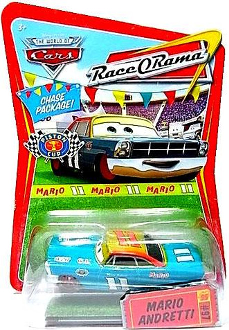 Disney Cars The World of Cars Race-O-Rama Mario Andretti with Red Rims Diecast Car #97