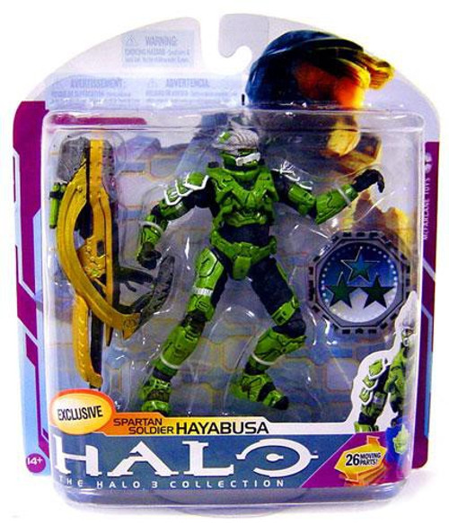 McFarlane Toys Halo 3 Series 6 Medal Edition Spartan Soldier Hayabusa Exclusive Action Figure [Sage]