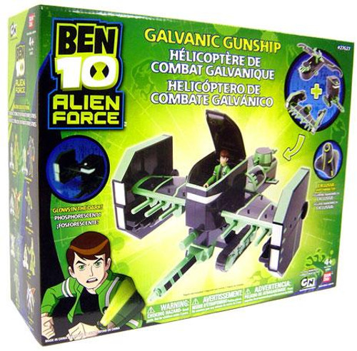Ben 10 Alien Force Galvanic Gunship Exclusive Action Figure Vehicle