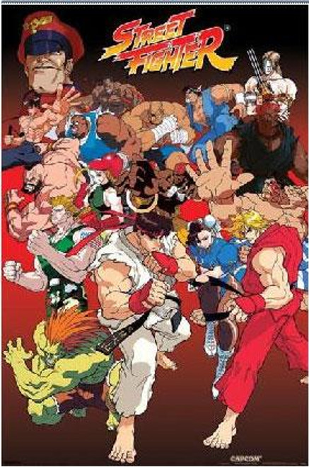 Street Fighter Anime Style Poster