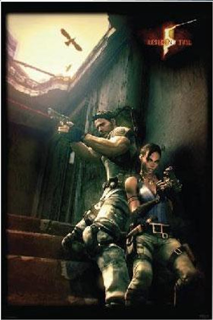 Resident Evil 5 Against A Wall Poster