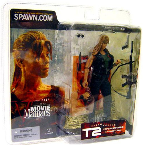 McFarlane Toys The Terminator Terminator 2 Judgment Day Movie Maniacs Series 5 Sarah Connor Action Figure [Straight Hair]