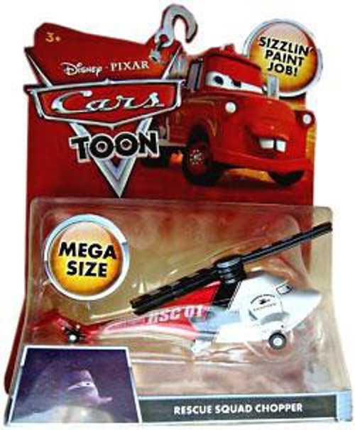 Disney Cars Cars Toon Deluxe Oversized Rescue Squad Chopper Diecast Car
