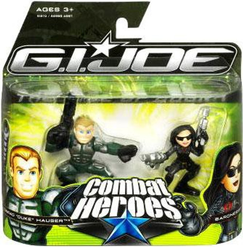 GI Joe The Rise of Cobra Combat Heroes Conrad Duke Hauser & Baroness Mini Figure 2-Pack