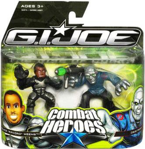 "GI Joe The Rise of Cobra Combat Heroes Wallace ""Ripcord"" Weems & Destro Mini Figure 2-Pack"