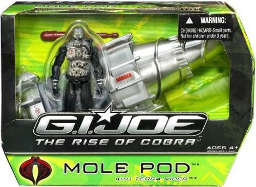 GI Joe The Rise of Cobra Mole Pod Action Figure Vehicle