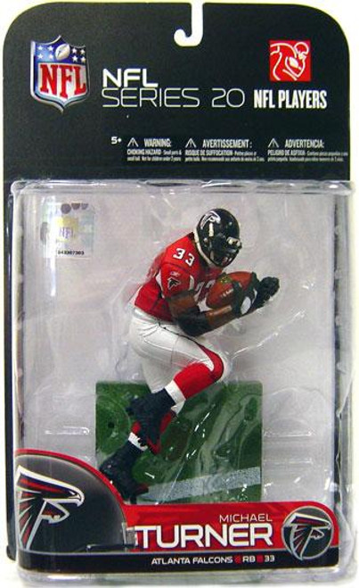McFarlane Toys NFL Atlanta Falcons Sports Picks Series 20 Michael Turner Action Figure [Red Jersey Variant]
