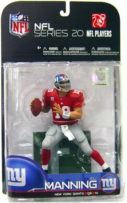 McFarlane Toys NFL New York Giants Sports Picks Series 20 Eli Manning Action Figure [Red Jersey Variant]