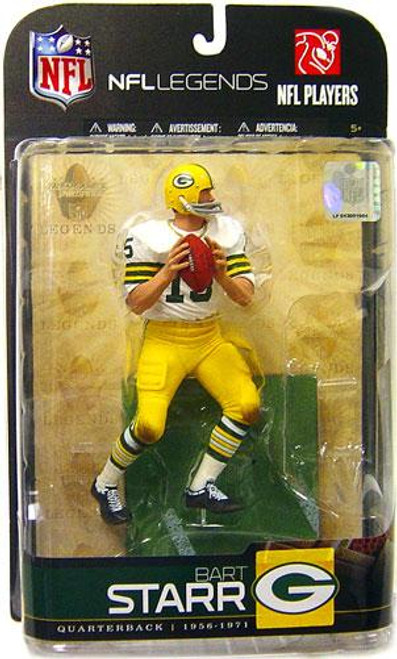 McFarlane Toys NFL Green Bay Packers Sports Picks Legends Series 5 Bart Starr Action Figure [White Jersey Variant]