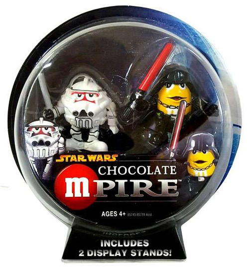 Star Wars M&Ms Chocolate Mpire Clone Trooper & Darth Vader Action Figure 2-Pack