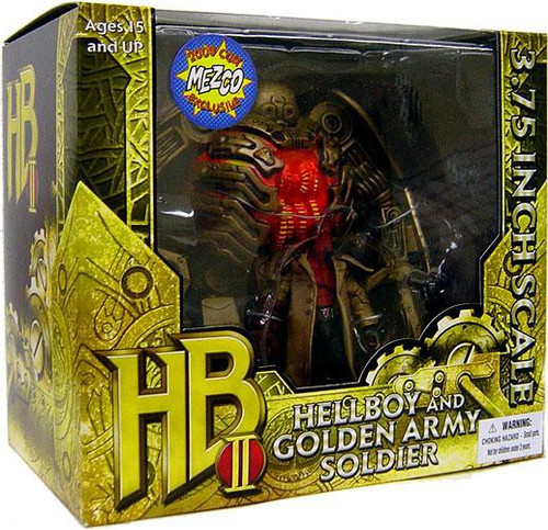 Hellboy 2 The Golden Army Hellboy & Golden Army Soldier Exclusive Action Figure Set