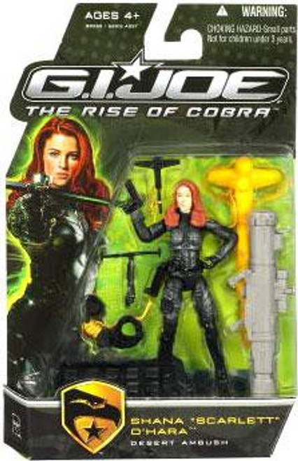 GI Joe The Rise of Cobra Shana O' Hara Scarlett Action Figure [Desert Ambush]
