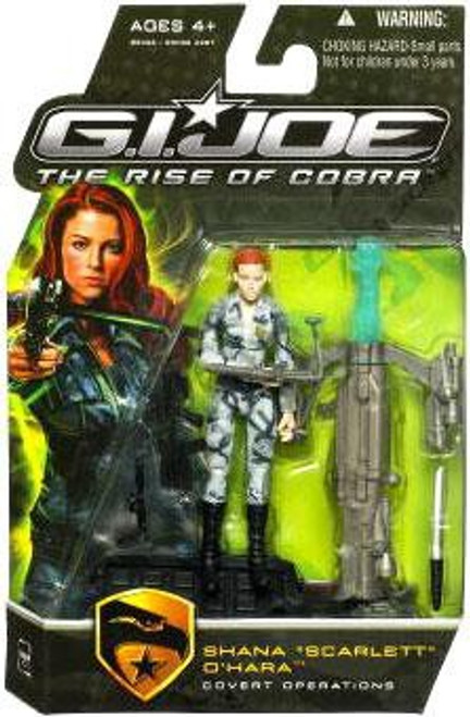 GI Joe The Rise of Cobra Shana O' Hara Scarlett Action Figure [Covert Operations]