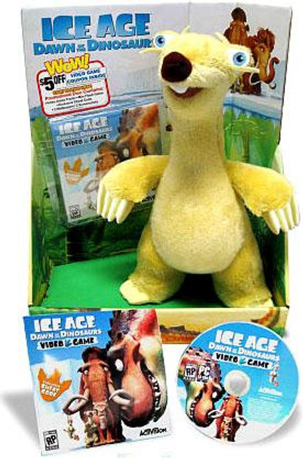 Ice Age Dawn of the Dinosaurs Sid Exclusive Plush [Includes Video Game Preview]
