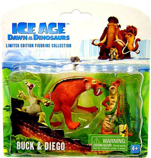 Ice Age Dawn of the Dinosaurs Limited Edition Figurine Collection Buck & Diego Mini Figure 2-Pack