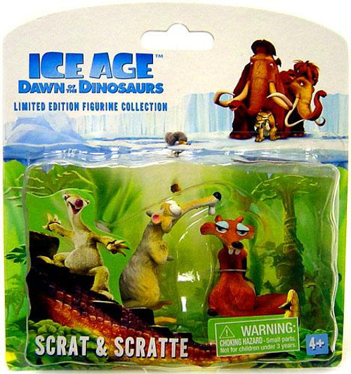 Ice Age Dawn of the Dinosaurs Limited Edition Figurine Collection Scrat & Scratte Mini Figure 2-Pack