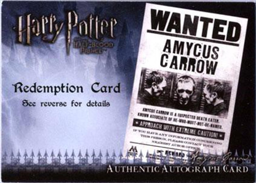 Harry Potter The Half Blood Prince Ralph Jenson as Amycus Carrow Autograph Card
