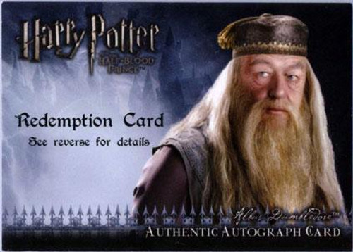 Harry Potter The Half Blood Prince Michael Gambon as Albus Dumbledore Autograph Card