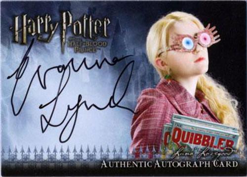 Harry Potter The Half Blood Prince Evanna Lynch as Luna Lovegood Autograph Card