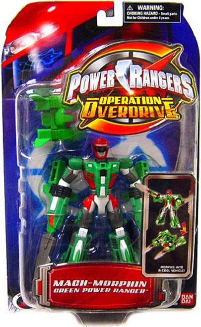 Power Rangers Operation Overdrive Mach Morphin Green Power Ranger Action Figure