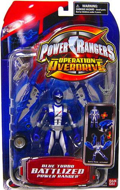 Power Rangers Operation Overdrive Blue Turbo Battlized Power Ranger Action Figure