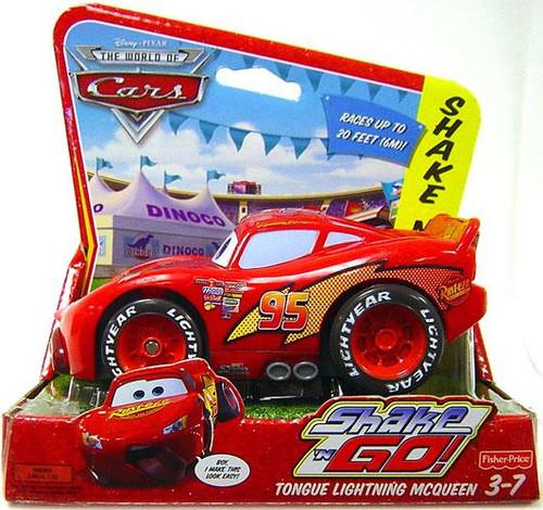 Disney Cars The World of Cars Shake 'N Go Tongue Lightning McQueen Shake 'N Go Car