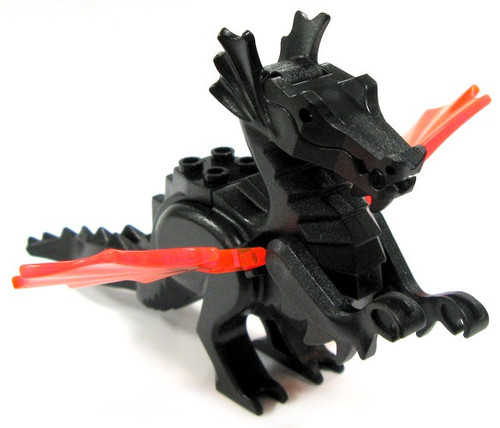 LEGO Castle Animals Black Dragon with Red Wings [Loose]