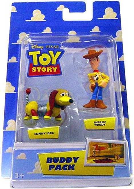 Toy Story Buddy Pack Sheriff Woody & Slinky Dog Mini Figure 2-Pack