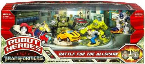 Transformers Revenge of the Fallen Robot Heroes Battle For The Allspark Figure Set