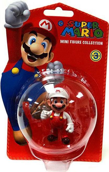 Super Mario Bros Series 3 Fire Mario 2-Inch Vinyl Mini Figure