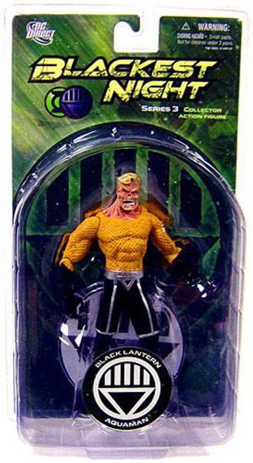 DC Green Lantern Blackest Night Series 3 Black Lantern Aquaman Action Figure