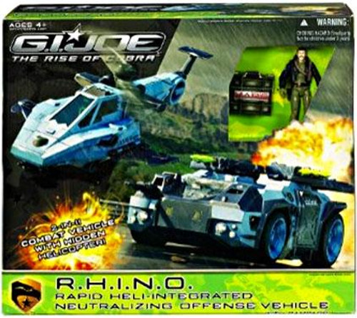 GI Joe The Rise of Cobra R.H.I.N.O. Rapid Heli-Integrated Neutralizing Offensive Vehicle Exclusive Action Figure Vehicle